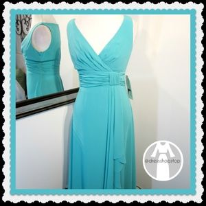 Dresses & Skirts - Teal Long Formal Gown // NWOT // Size 8
